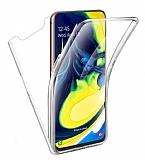 Eiroo Protection Samsung Galaxy A80 360 Derece Koruma Şeffaf Silikon Kılıf