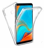 Eiroo Protection Samsung Galaxy A9 2018 360 Derece Koruma Şeffaf Silikon Kılıf