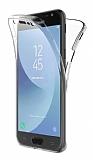 Eiroo Protection Samsung Galaxy J4 360 Derece Koruma Şeffaf Silikon Kılıf