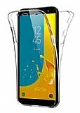 Eiroo Protection Samsung Galaxy J6 Plus 360 Derece Koruma Şeffaf Silikon Kılıf