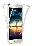 Eiroo Protection Samsung Galaxy J7 Pro 2017 360 Derece Koruma Şeffaf Silikon Kılıf