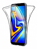Eiroo Protection Samsung Galaxy J8 360 Derece Koruma Şeffaf Silikon Kılıf