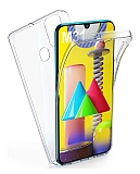 Eiroo Protection Samsung Galaxy M31 360 Derece Koruma Şeffaf Silikon Kılıf