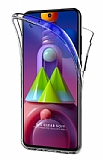 Eiroo Protection Samsung Galaxy M31S 360 Derece Koruma Şeffaf Silikon Kılıf