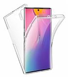 Eiroo Protection Samsung Galaxy Note 10 Plus 360 Derece Koruma Şeffaf Silikon Kılıf