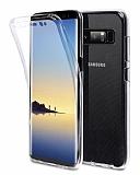 Eiroo Protection Samsung Galaxy Note 8 360 Derece Koruma Şeffaf Silikon Kılıf