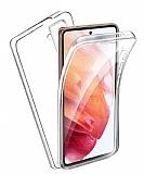 Eiroo Protection Samsung Galaxy S21 360 Derece Koruma Şeffaf Silikon Kılıf