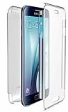 Eiroo Protection Samsung Galaxy S6 Edge 360 Derece Koruma �effaf Silikon K�l�f
