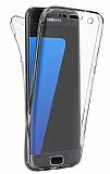 Eiroo Protection Samsung Galaxy S7 360 Derece Koruma Şeffaf Silikon Kılıf