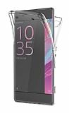 Eiroo Protection Sony Xperia Z5 Compact 360 Derece Koruma Şeffaf Silikon Kılıf