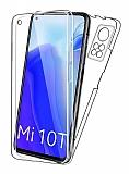 Eiroo Protection Xiaomi Mi 10T 360 Derece Koruma Şeffaf Silikon Kılıf