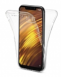 Eiroo Protection Xiaomi Pocophone F1 360 Derece Koruma Şeffaf Silikon Kılıf