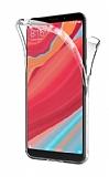 Eiroo Protection Xiaomi Redmi 6 Pro 360 Derece Koruma Şeffaf Silikon Kılıf