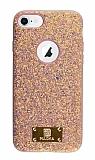 Eiroo Puloka iPhone 7 / 8 Işıltılı Rose Gold Silikon Kılıf