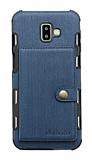 Eiroo Purse Samsung Galaxy J6 Plus Cüzdanlı Lacivert Rubber Kılıf