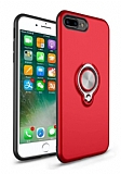 Eiroo Q-Armor iPhone 7 Plus / 8 Plus Selfie Yüzüklü Ultra Koruma Kırmızı Kılıf