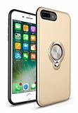 Eiroo Q-Armor iPhone 7 Plus / 8 Plus Selfie Yüzüklü Ultra Koruma Gold Kılıf