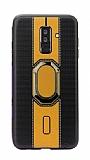 Eiroo Race Samsung Galaxy J8 Sarı Silikon Kılıf