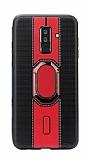 Eiroo Race Samsung Galaxy J8 Kırmızı Silikon Kılıf