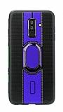 Eiroo Race Samsung Galaxy J8 Lacivert Silikon Kılıf