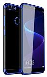 Eiroo Radiant Alcatel 1S Lacivert Kenarlı Şeffaf Silikon Kılıf