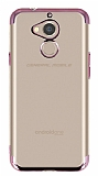 Eiroo Radiant General Mobile GM 8 Rose Gold Kenarlı Şeffaf Silikon Kılıf