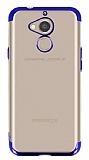 Eiroo Radiant General Mobile GM 8 Lacivert Kenarlı Şeffaf Silikon Kılıf