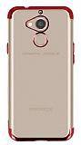 Eiroo Radiant General Mobile GM 8 Kırmızı Kenarlı Şeffaf Silikon Kılıf