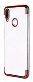 Eiroo Radiant Honor 8C Kırmızı Kenarlı Şeffaf Silikon Kılıf