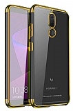 Eiroo Radiant Huawei Mate 10 Lite Gold Kenarlı Şeffaf Rubber Kılıf