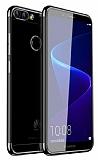 Eiroo Radiant Huawei P Smart Siyah Kenarlı Şeffaf Silikon Kılıf