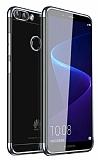 Eiroo Radiant Huawei P Smart Silver Kenarlı Şeffaf Silikon Kılıf