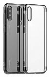 Eiroo Radiant Huawei P Smart Pro 2019 Siyah Kenarlı Şeffaf Silikon Kılıf