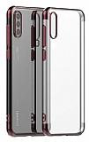 Eiroo Radiant Huawei P Smart Pro 2019 Rose Gold Kenarlı Şeffaf Silikon Kılıf