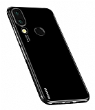 Eiroo Radiant Huawei P20 Lite Siyah Kenarlı Şeffaf Rubber Kılıf