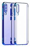 Eiroo Radiant Huawei P30 Lacivert Kenarlı Şeffaf Silikon Kılıf