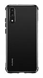 Eiroo Radiant Huawei P30 Lite Siyah Kenarlı Şeffaf Silikon Kılıf