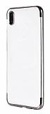 Eiroo Radiant Huawei Y5 2019 Silver Kenarlı Şeffaf Silikon Kılıf