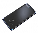 Eiroo Radiant Huawei Y6 2018 Lacivert Kenarlı Şeffaf Silikon Kılıf