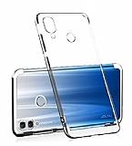 Eiroo Radiant Huawei Y7 2019 Silver Kenarlı Şeffaf Rubber Kılıf