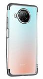 Eiroo Radiant Xiaomi Redmi Note 9 Pro 5G Silver Kenarlı Şeffaf Silikon Kılıf