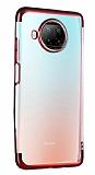 Eiroo Radiant Xiaomi Redmi Note 9 Pro 5G Kırmızı Kenarlı Şeffaf Silikon Kılıf