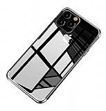 Eiroo Radiant iPhone 11 Pro Silver Kenarlı Şeffaf Silikon Kılıf