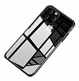 Eiroo Radiant iPhone 11 Pro Siyah Kenarlı Şeffaf Silikon Kılıf