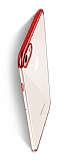 Eiroo Radiant iPhone 6 Plus / 6S Plus Kırmızı Kenarlı Şeffaf Rubber Kılıf