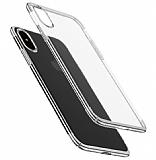 Eiroo Radiant iPhone XS Max Silver Kenarlı Şeffaf Rubber Kılıf