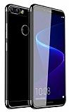 Eiroo Radiant Oppo AX7 / Oppo A5s Siyah Kenarlı Şeffaf Silikon Kılıf
