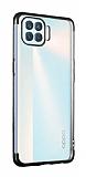 Eiroo Radiant Oppo Reno4 Lite Siyah Kenarlı Şeffaf Silikon Kılıf