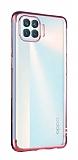 Eiroo Radiant Oppo Reno4 Lite Rose Gold Kenarlı Şeffaf Silikon Kılıf