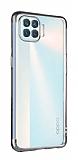 Eiroo Radiant Oppo Reno4 Lite Silver Kenarlı Şeffaf Silikon Kılıf